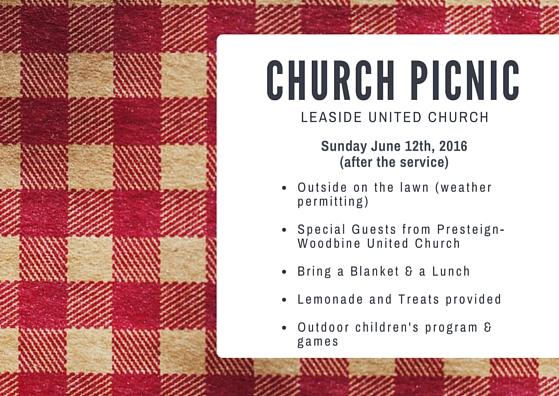 Church Picnic Leaside United Church