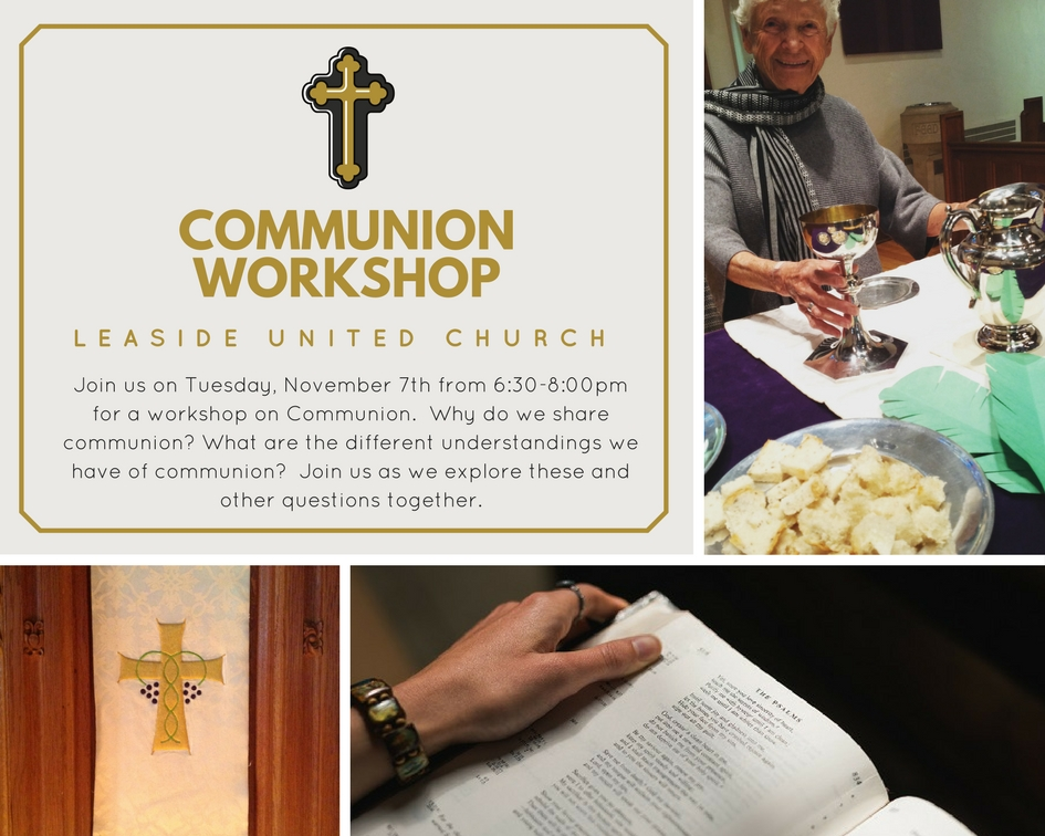 Communion Workshop @ Leaside United Church   Toronto   Ontario   Canada